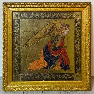 Framed Gold Leaf Angel Print Wall Art Decor